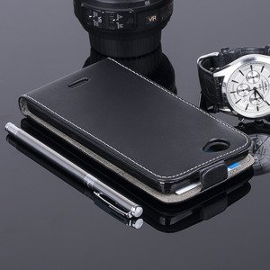 SLIM FLIP CASE COVER magnet  WIKO GETAWAY BLACK