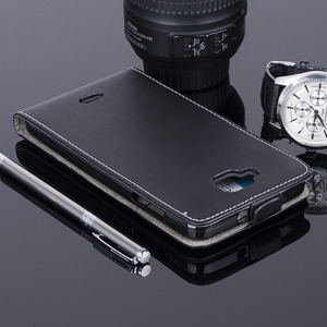 SLIM FLIP CASE COVER magnet  WIKO SLIDE BLACK