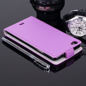 SLIM FLIP FLEX CASE COVER RUBBER magnet WIKO HIGHWAY PURE PURPLE