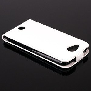SLIM FLIP FLEX CASE COVER magnet RUBBER ACER LIQUID JADE S WHITE color