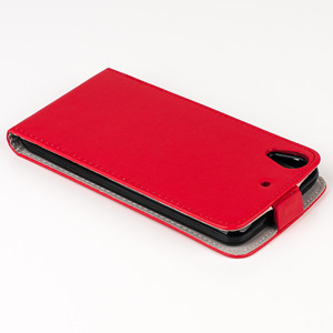SLIM FLIP FLEX CASE COVER magnet RUBBER HTC DESIRE 626 RED color