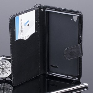 WALLET CASE COVER magnet ZTE BLADE VEC 4G pocketbook 2in1 BLACK
