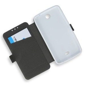 WALLET FLIP CASE COVER MAGNET pocketbook MICROSOFT LUMIA 430 WHITE