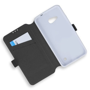 WALLET FLIP CASE COVER MAGNET pocketbook MICROSOFT LUMIA 550 WHITE