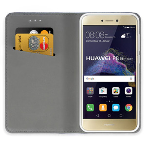 WALLET FLIP CASE COVER Magnetic SmartCase HUAWEI P8 LITE 2017 WHITE