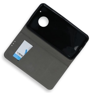 WALLET FLIP CASE COVER Magnetic SmartCase LENOVO MOTO G5 PLUS BLACK