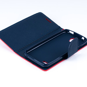 WALLET FLIP CASE COVER flexible pocketbook magnet HUAWEI Y5 red-navy