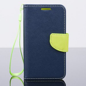WALLET FLIP CASE COVER magnet HTC DESIRE 320 pocketbook 2in1 navy blue