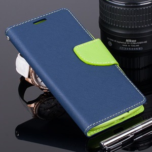 WALLET FLIP CASE COVER pocketbook ALCATEL OT POP C7 7040 Navy and lime