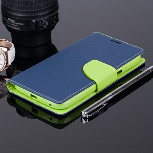 WALLET FLIP CASE COVER pocketbook ALCATEL OT POP C9 7047 Navy and lime