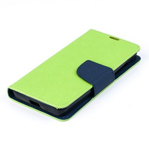 WALLET FLIP CASE COVER pocketbook RUBBER MICROSOFT LUMIA 550 LEMON