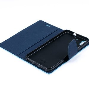 WALLET FLIP CASE COVER pocketbook RUBBER magnet HUAWEI Y6 MINT
