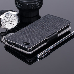 WALLET FLIP CASE COVER pocketbook magnet HUAWEI ASCEND P8 LITE BLACK