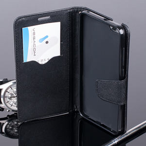 WALLET FLIP CASE COVER pocketbook magnet HUAWEI HONOR 4X BLACK