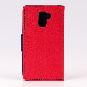 WALLET FLIP CASE COVER pocketbook magnet HUAWEI HONOR 7 red-navy
