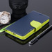 WALLET CASE COVER SAMSUNG GALAXY GRAND PRIME G530 navy blue and lime