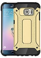 Fall decken SHIELD TASCHE SAMSUNG GALAXY S6 EDGE SM-G925 GOLD GLAS