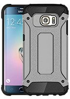Fall decken SHIELD TASCHE SAMSUNG GALAXY S6 EDGE SM-G925 GRAU GLAS