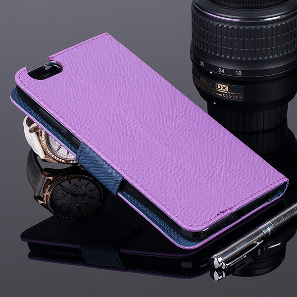 Brieftasche Fall decken CASE COVER TASCHE HUAWEI HONOR 4X VIOLETT