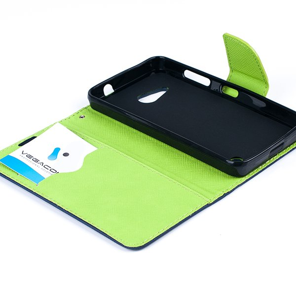 Brieftasche Fall decken CASE COVER TASCHE MICROSOFT LUMIA 550 blau