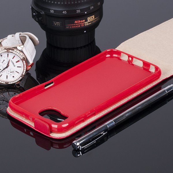 COVER Fall Holster Magnet CASE TASCHE SAMSUNG GALAXY S6 G920 ROT
