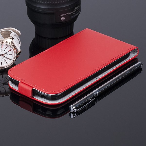 COVER Fall Holster Magnet CASE TASCHE TPU ALCATEL ONE TOUCH POP C9 ROT