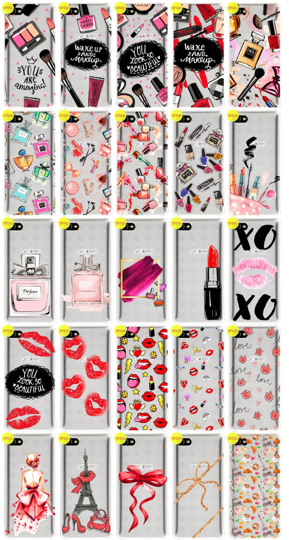 Case Cover Aufdruck Tasche Fall Kreatui FASHION ALCATEL A5 LED + GLAS