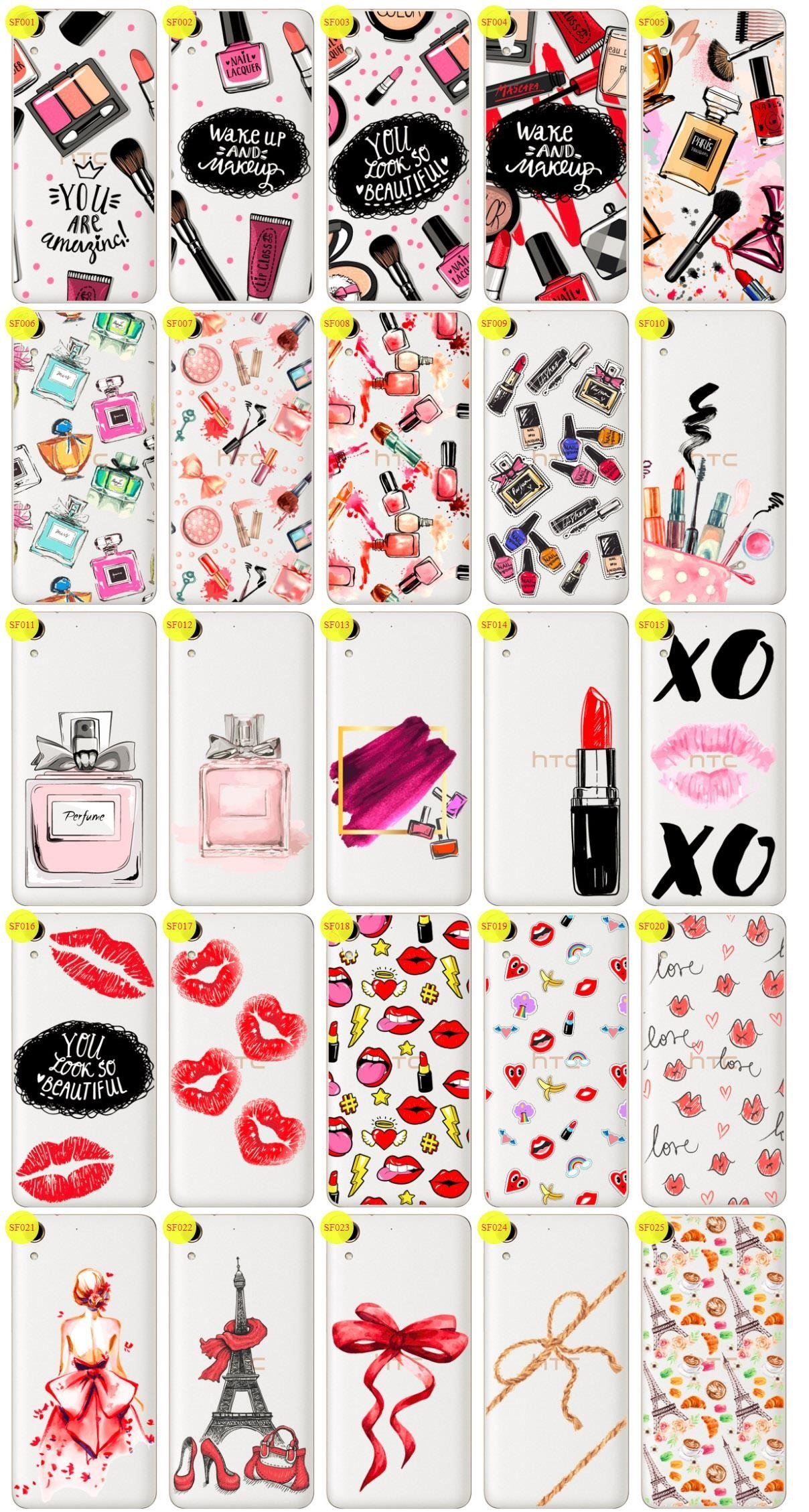 Case Cover Aufdruck Tasche Fall Kreatui FASHION HTC DESIRE 728 + GLAS