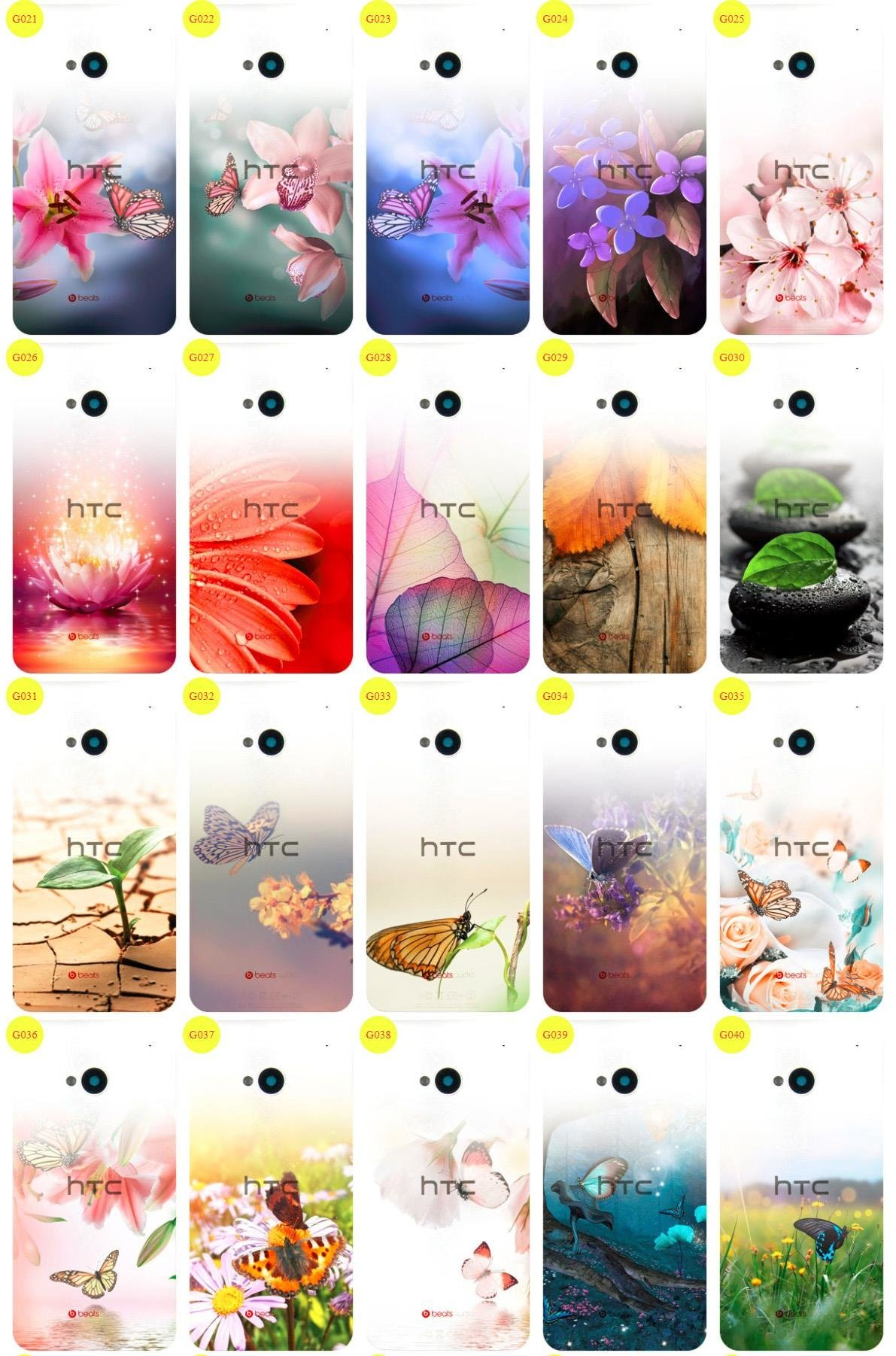 Case Cover Aufdruck Tasche Fall Kreatui GRADIENT HTC ONE M7 + GLAS 9H