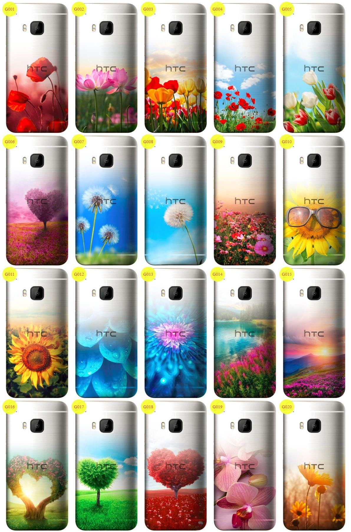 Case Cover Aufdruck Tasche Fall Kreatui GRADIENT HTC ONE M9 + GLAS 9H