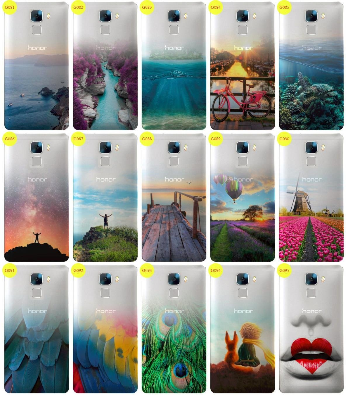 Case Cover Aufdruck Tasche Fall Kreatui GRADIENT HUAWEI HONOR 7