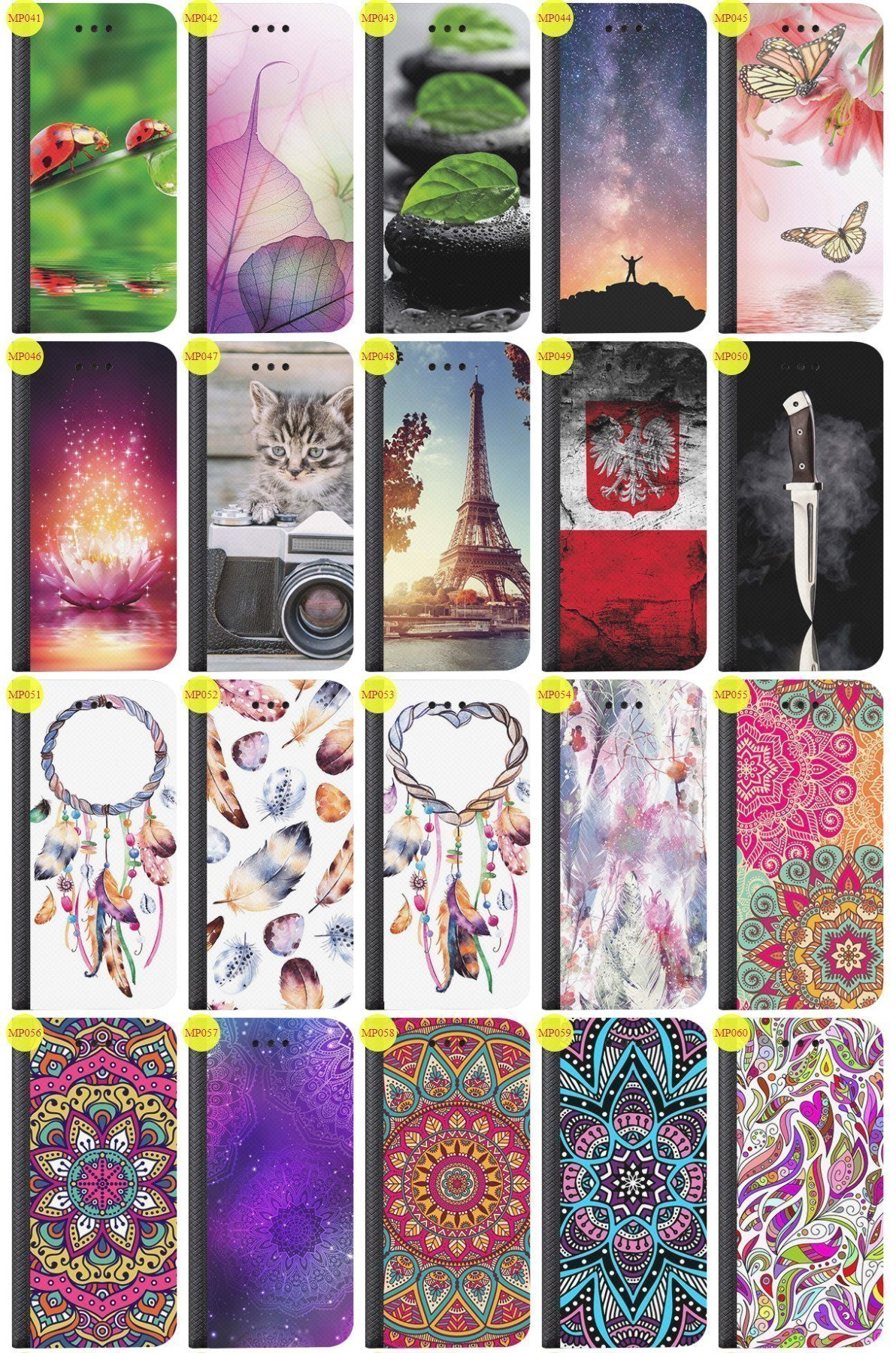 Case Cover Aufdruck Tasche Fall Magnetic Print LENOVO A2010