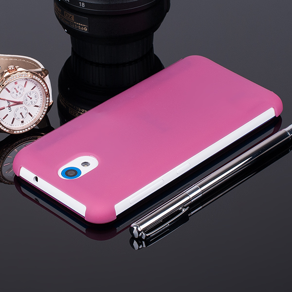 DOT VIEW FLIP Holster Fall decken CASE TASCHE HTC DESIRE 620 ROSA
