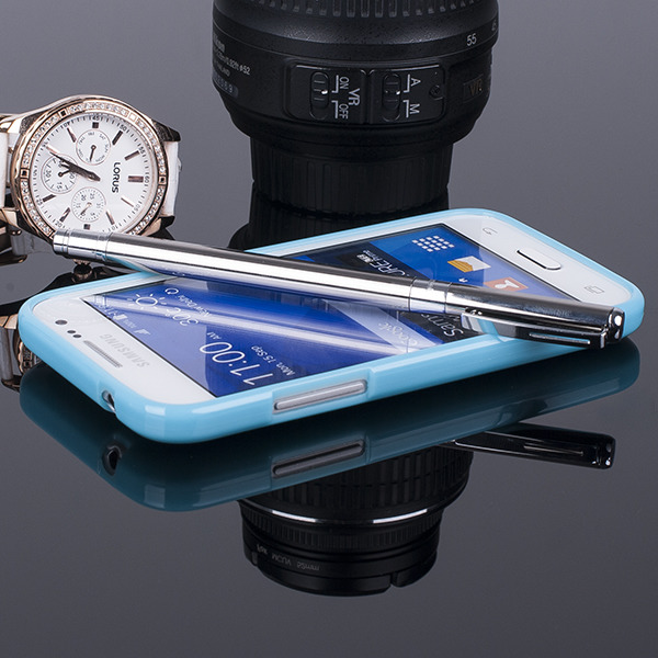 Fall decken BACK CASE GEL TPU TASCHE GALAXY CORE PRIME SM-G360 BLAU