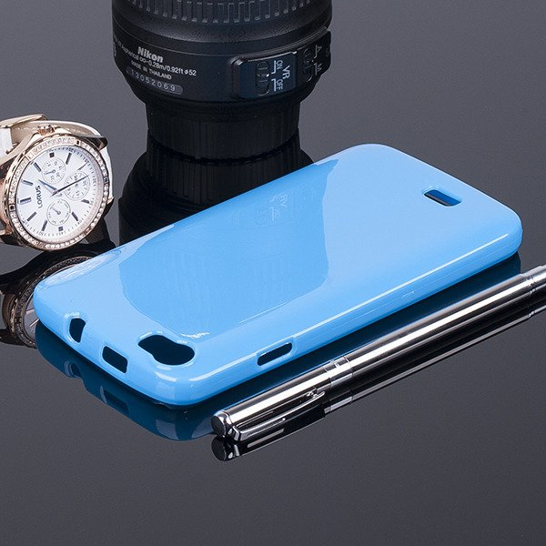 Fall decken BACK CASE GEL TPU TASCHE JELLY WIKO LENNY BLAU