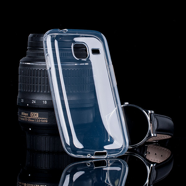 Fall decken CASE COVER GEL TASCHE SAMSUNG GALAXY J1 MINI SM-J105 CLEAR