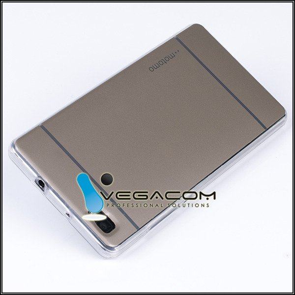 Fall decken CASE COVER MOTOMO TPU GEL RUBBER HUAWEI P8 LITE GOLD