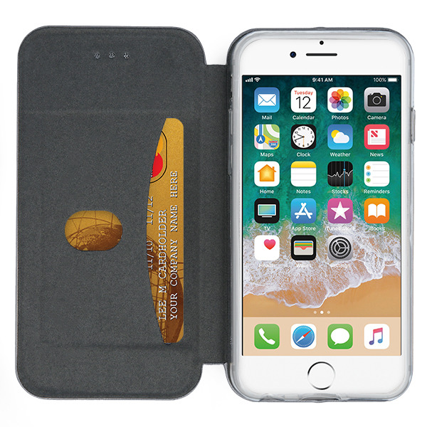 Fall decken CASE COVER TASCHE Magnetic PRESTIGE IPHONE 8 STAHL