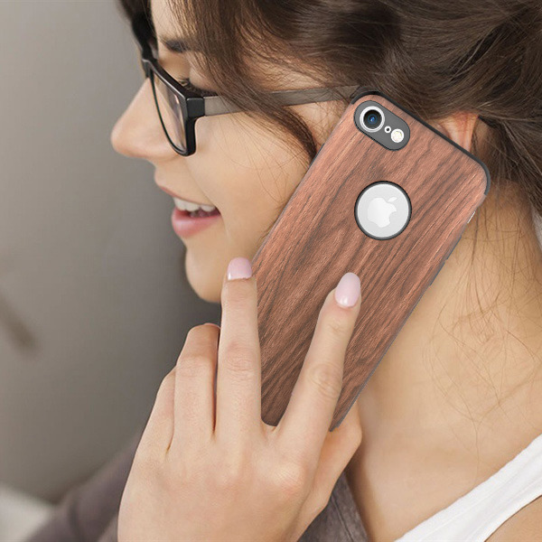 Fall decken CASE COVER TIMBER TEXTURE TASCHE IPHONE 6 6S + GLAS