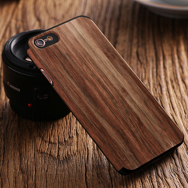 Fall decken CASE COVER TIMBER TEXTURE TASCHE IPHONE 7 PLUS + GLAS