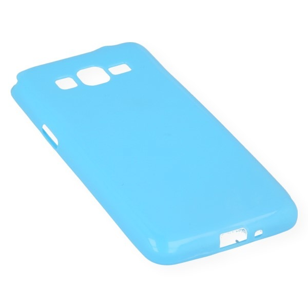 Fall decken CASE GEL TPU TASCHE SAMSUNG GALAXY GRAND PRIME G530 BLAU