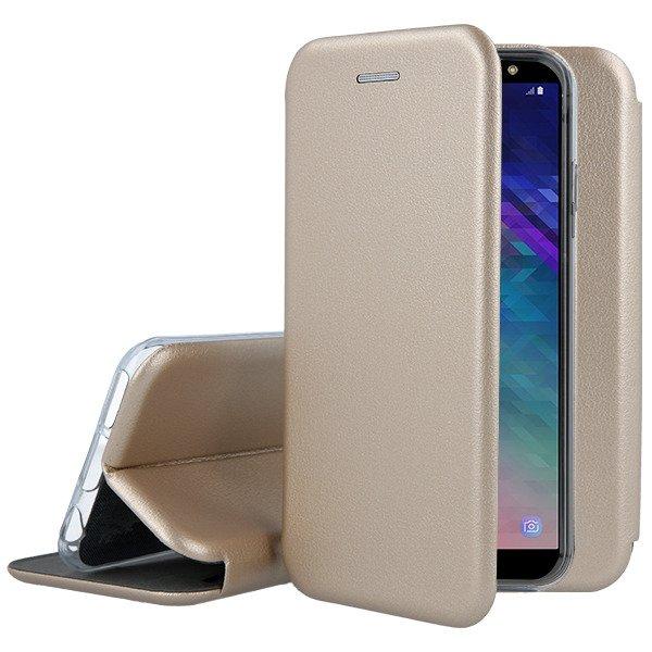 Fall Decken Case Tasche Prestige Samsung Galaxy A6 Plus 2018 Gold