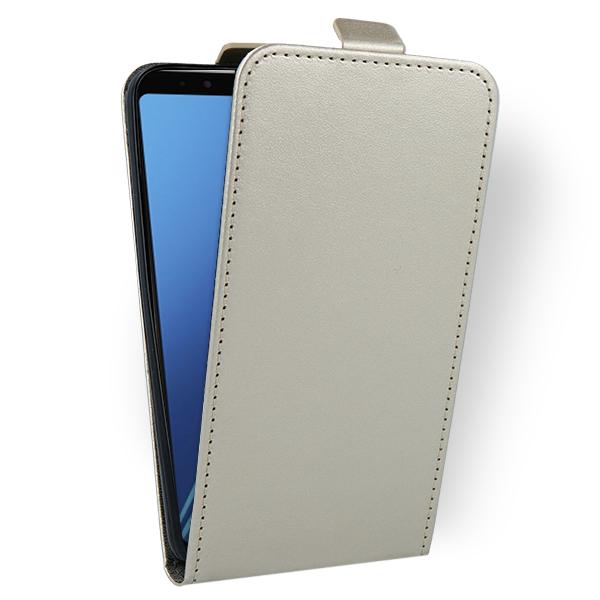 Fall Decken Cover Case Tasche Samsung Galaxy A8 2018 Sm A530 Gold