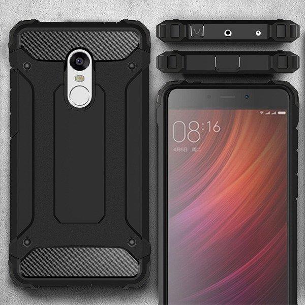 Fall Decken Shield Tasche Xiaomi Redmi Note 4 Schwarz Glas 85271