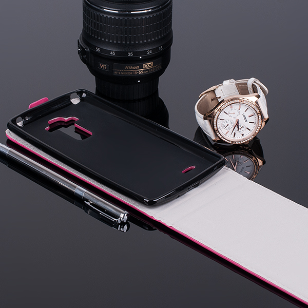 SLIM Fall Holster decken Magne COVER CASE TASCHE LG G4 STYLUS ROSA