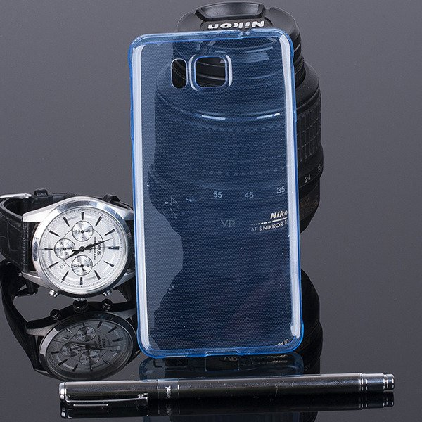 TASCHE FALL decken CASE COVER 0.3mm SAMSUNG GALAXY ALPHA SM-G850 BLAU