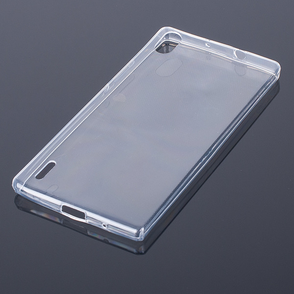 TASCHE Fall decken CASE COVER Huawei Ascend P7 TRANSPARENT kein Dampf