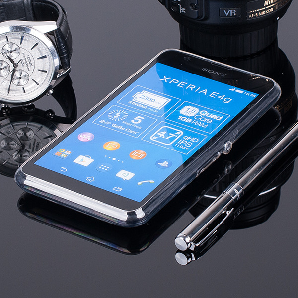 TASCHE Fall decken CASE COVER SONY XPERIA E4G TRANSPARENT 0.3mm