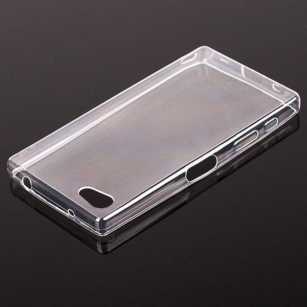 TASCHE Fall decken CASE COVER SONY XPERIA Z5 COMPACT 0.3 TRANSPARENT