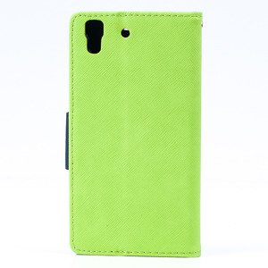 2in1 Brieftasche Fall decken CASE COVER TASCHE HUAWEI Y6 Lime